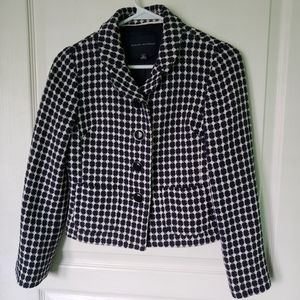 Banana Republic blac/white Dotted Blazer Size S